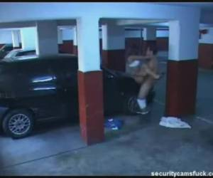 couple a le sexe dans un parking garage